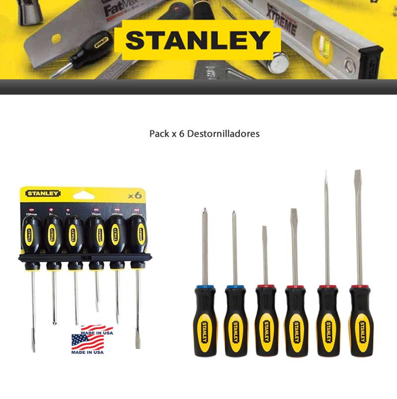 Destornilladores Stanley Pack x 6 Unid -